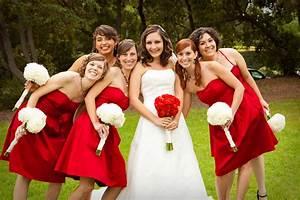 image gallery wedding bridesmaids With robe temoin de mariage rouge