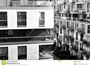 Modern, Luxury Apartment Building. Black And White Stock ...