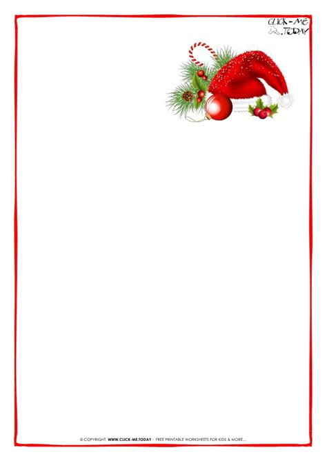 printable letter  santa claus blank paper template