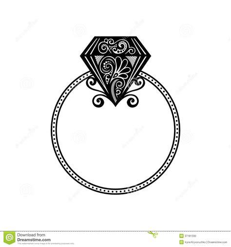 Vector Wedding Ring With Diamond. Stock Photo - Image