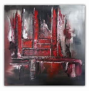 Abstrakte Kunst Kaufen : eternal abstrakte kunst gem lde grau rot kaufen burgstaller ~ Watch28wear.com Haus und Dekorationen