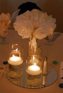 Floating Candle and Flower Centerpiece | Centerpieces ...