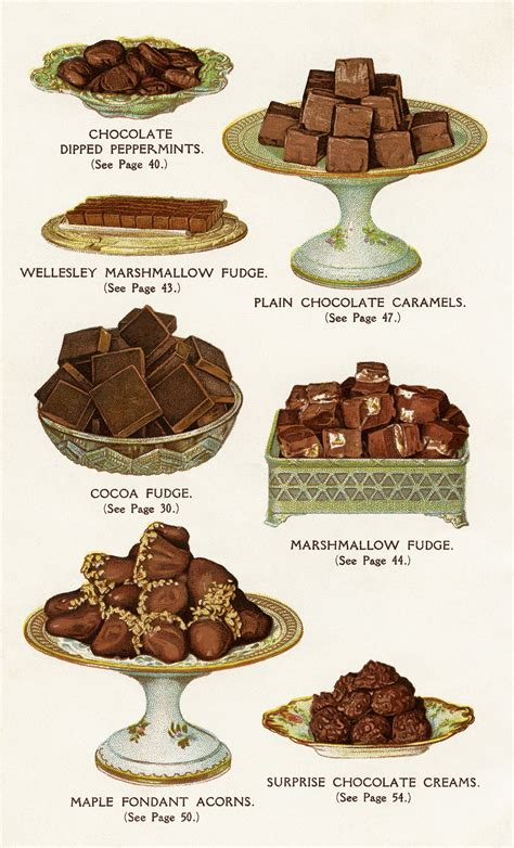 cuisines vintage free vintage image chocolate and cocoa recipes book page