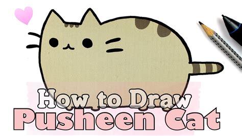 draw pusheen cat collab  fimokawaiiemotions
