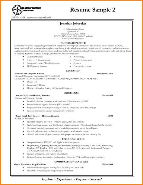 college application resume sle for high school 28 images
