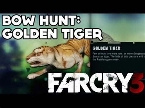 Far Cry Path The Hunter Bow Hunt Golden Tiger