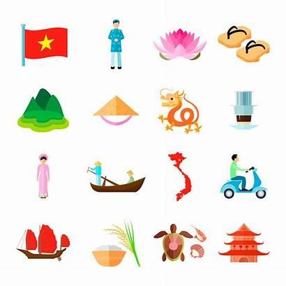 Vietnam Vector Icons Illustration Vietnamese Symbols Freepik