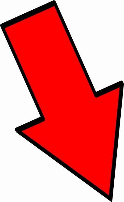 Arrow Flecha Roja Pointing Clipart Down Right