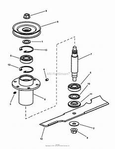 Snapper Hzt21480bv  82533  48 U0026quot  21 Hp Ztr Twin Stick Series 0 Parts Diagram For 48 U0026quot  Spindle Assembly