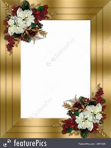 Birthday Greeting Card Background Design Templates Christmas Border Gold Floral Stock