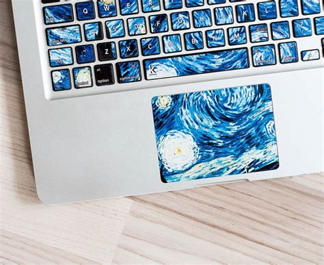 keyboard stickers turn laptops  iconic paintings