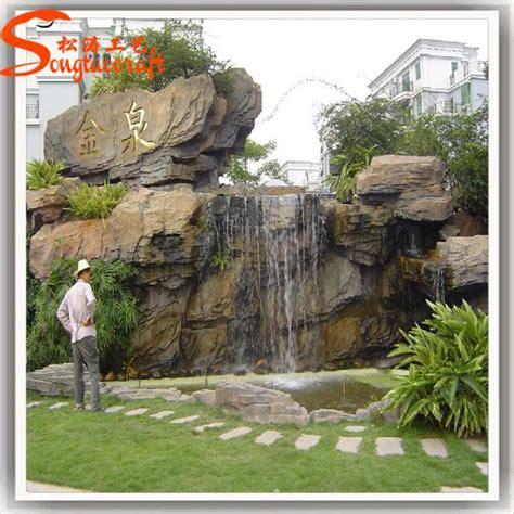 Gran diseño de imitación de mármol bronce fuente de agua