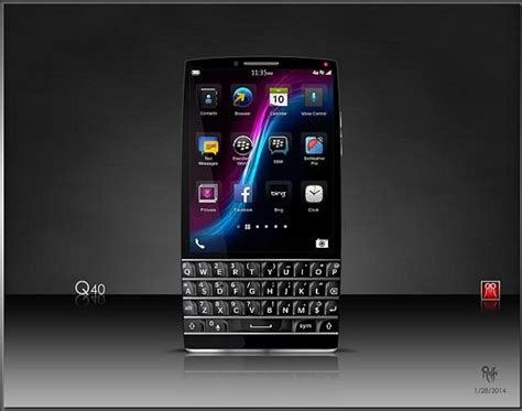 next blackberry phone blackberry q40 concept manages to keep physical keyboard