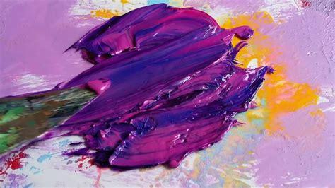 mixing paints rich purple