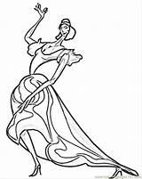 Coloring Flamenco Dancer Spanish Printable Template sketch template