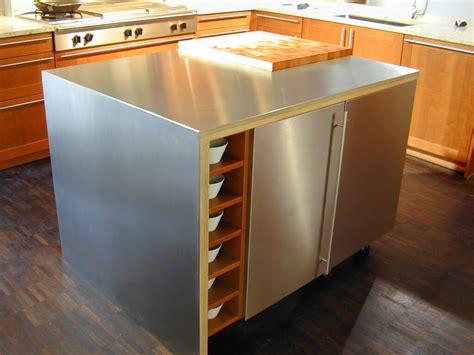 kitchen island metal stainless steel countertop custom