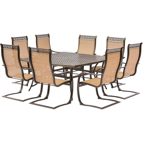Outdoor Table And Chairs Set by Hanover Manor 9 Aluminum Square Outdoor Dining Set