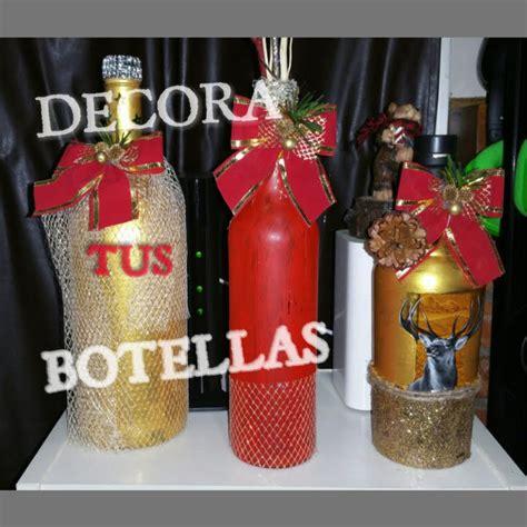 c 211 mo decorar botellas para navidad