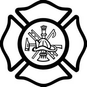 Free Firefighter Pumpkin Carving Templates by Fireman Maltese Cross Decal Sticker 04