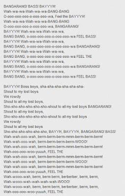 sbatti testo testo canzone bangarang di skrillex testo canzone
