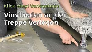 Klick Laminat Verlegen Tricks : vinylboden an der treppe verlegen youtube ~ Watch28wear.com Haus und Dekorationen