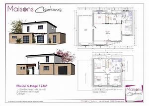 Plan maison 110 m2 etage for Plan maison demi etage 3 plan de maison contemporaine exemple de maison moderne