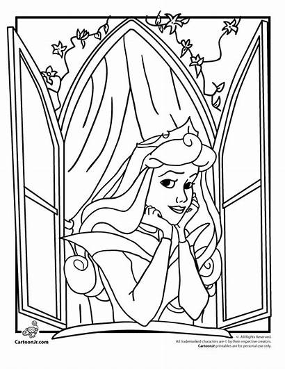 Coloring Princess Disney Sleeping Beauty Pages Printable