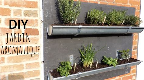 diy jardin aromatique en gouttières