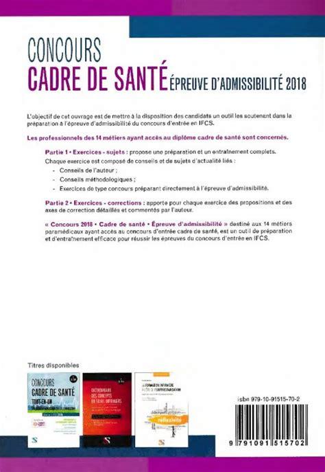 forum cadre de sante concours cadre de sant 233 2018 jeanne lorson 9791091515702 setes concours cadre de sant 233