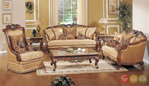 formal living room chairs exposed wood luxury traditional sofa loveseat formal