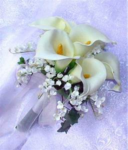 Ivory Or White CALLA LILY Bridal Bouquet Bride Handtied
