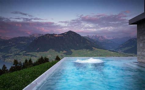 schweiz hotel villa honegg infinity pool im herzen der schweiz villa honegg b 252 rgenstock