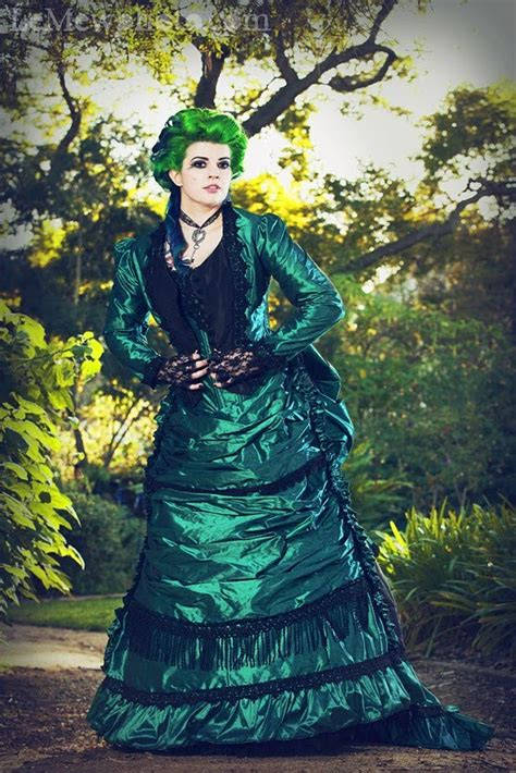 Green Black Gothic Steampunk Victorian Wedding Dresses