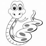 Snake Coloring Pages Printable Cartoon Clipart Snakes Panda sketch template