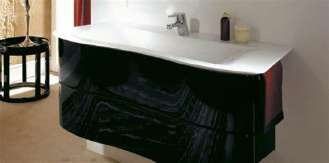salle de bain cedeo meuble sous vasque noir brillant