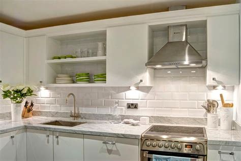 menards beveled subway tile white kitchen with marble countertop cabinets and gl tile