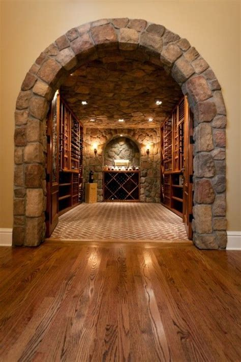 love  floors  stone arch stone archway home wine
