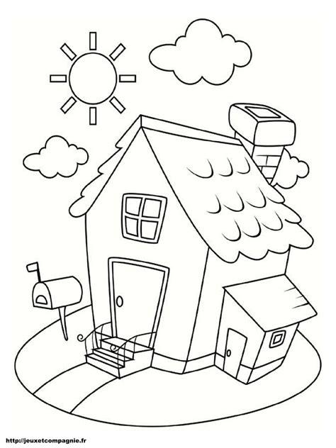 coloriages de maisons