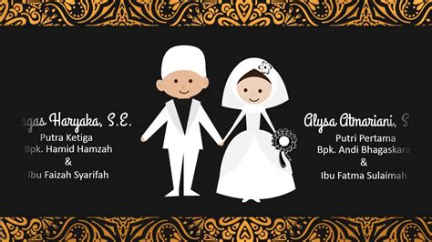 undangan pernikahan digital motion graphic wedding