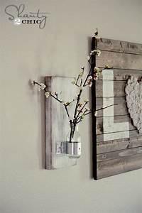 Glass Bottle Wall Vase - Shanty 2 Chic