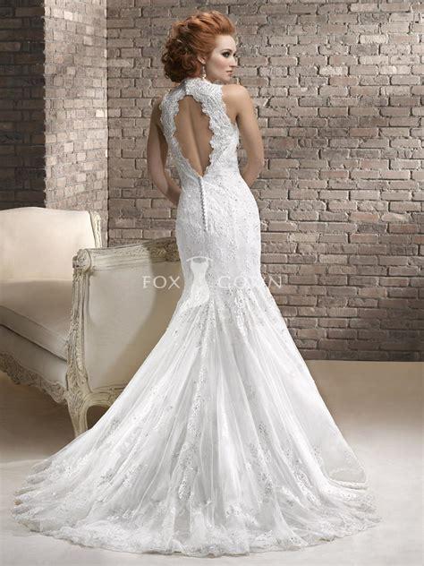 keyhole wedding dress tulle and embellished lace wedding dress with keyhole back sang maestro