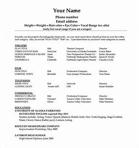 20 useful sample acting resume templates to download With beginner resume template