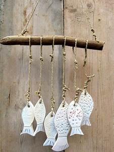 Fische Aus Holz : keramik garten windspiel fische mit treibholz ideen kinder pinte ~ Buech-reservation.com Haus und Dekorationen