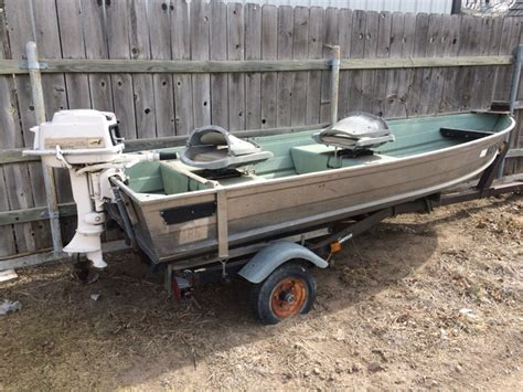 Sears Gamefisher Boat by 12 Aluminum V Bottom Boat Sears Gamefisher With Motor