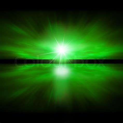 light green light sky of green light fractal landscape stock photo