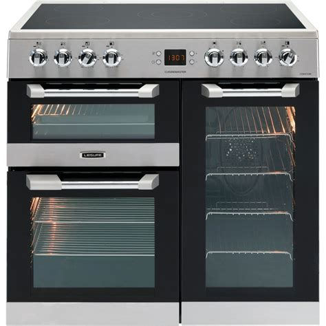 electric range cookers 90cm buy leisure cuisinemaster cs90c530x 90cm electric ceramic range cooker cs90c530x stainless
