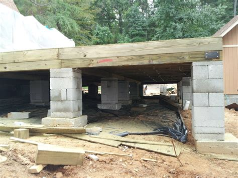 Pier Foundation Design by Crawlspace Pier And Beam Foundation Repair House
