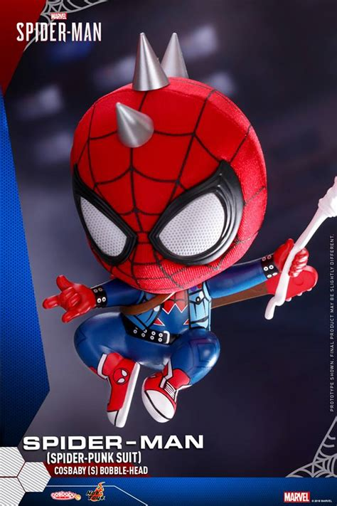 marvels spider man cosbaby bobble head coming