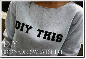 Diy iron on letter sweatshirt felting for Felt iron on letters for clothing