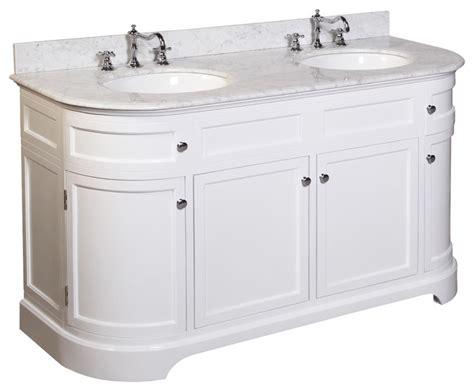 Montage-in Double Sink Bath Vanity (carrara/white